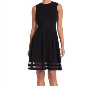 Calvin Klein Black Fit and Flare Dress